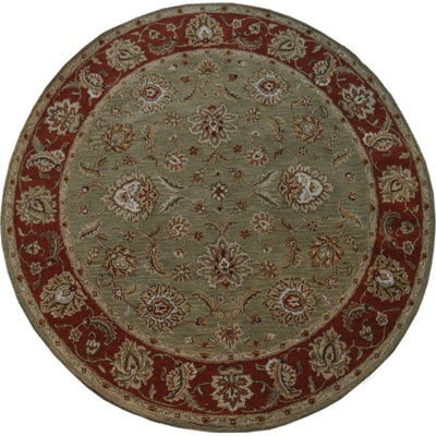 Jaipur Rugs Inc. Mythos 10 Round Anthea Kelp/Brick Red MY05