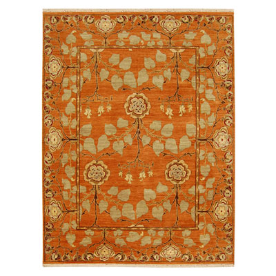 Jaipur Rugs Inc. Opus 10 x 14 Tree of Life Pumpkin Pumpkin OP10
