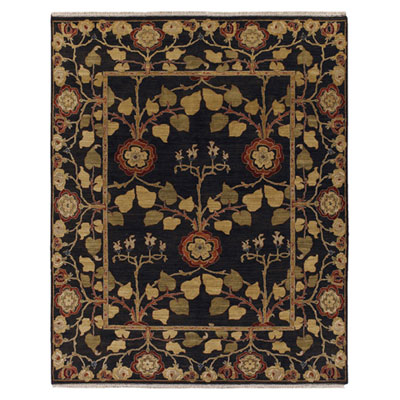 Jaipur Rugs Inc. Opus 4 x 6 Tree of Life Deep Charcoal/Deep Charcoal OP12
