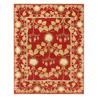 Jaipur Rugs Inc. Opus 4 x 6 Tree of Life Red/Red OP13