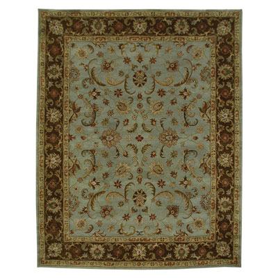 Jaipur Rugs Inc. Poeme 5 x 8 Normandy Sea Blue/Tobacco PM07