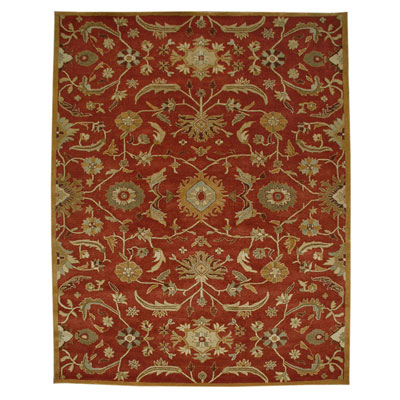 Jaipur Rugs Inc. Poeme 8 x 11 Cannes Coral/Dark Amber Gold PM19