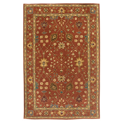 Jaipur Rugs Inc. Poeme 8 x 11 Bordeaux Terracotta/Terracotta PM35