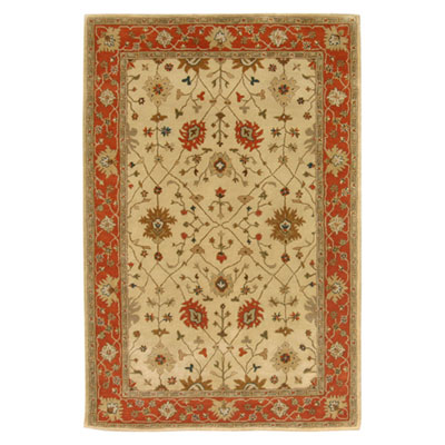Jaipur Rugs Inc. Poeme 8 x 11 Bordeaux Soft Gold/Red Orange PM36
