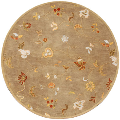 Jaipur Rugs Inc. Poeme 8 Round Alsace Gray Brown/Gray Brown PM01