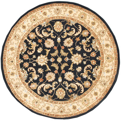 Jaipur Rugs Inc. Poeme 8 Round Normandy Ebony/Sand PM06