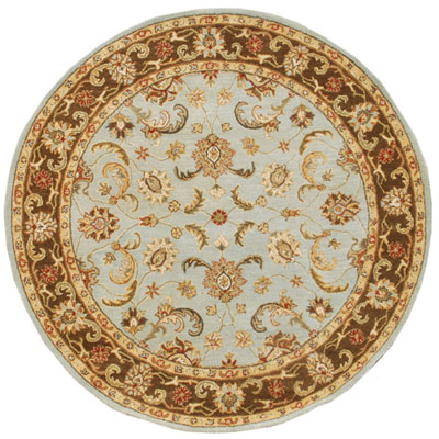Jaipur Rugs Inc. Poeme 8 Round Normandy Sea Blue/Tobacco PM07
