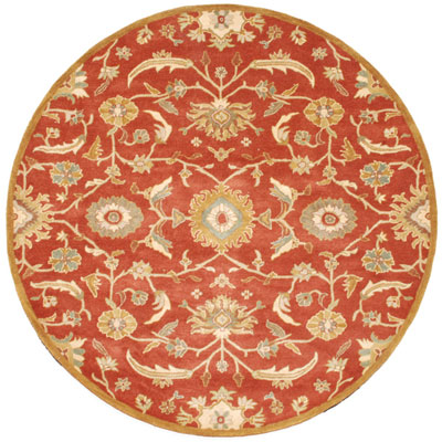 Jaipur Rugs Inc. Poeme 8 Round Cannes Coral/Dark Amber Gold PM19