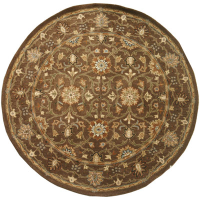 Jaipur Rugs Inc. Poeme 8 Round Rennes Cocoa Brown/Cocoa Brown PM37