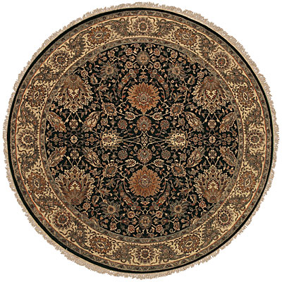 Jaipur Rugs Inc. Presidential 6 Round Charleston Ebony/Sand PS03