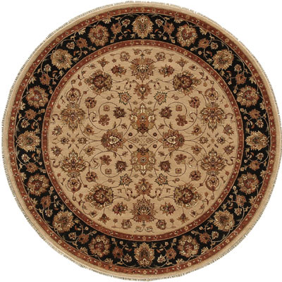 Jaipur Rugs Inc. Presidential 8 Round Casselberry Beige/Ebony PS01