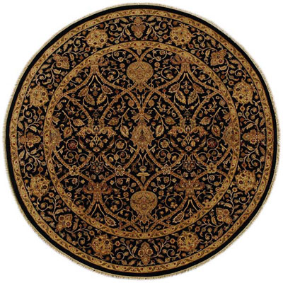 Jaipur Rugs Inc. Presidential 6 Round Salem Ebony/Ebony PS09