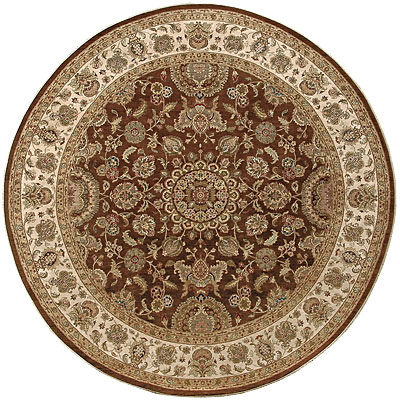 Jaipur Rugs Inc. Presidential 6 Round Salzburg Cocoa Brown/Dark Ivory PS11