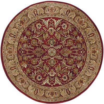 Kaleen Mystical Garden 6 Round Williamsburg Garden Red 6001-25