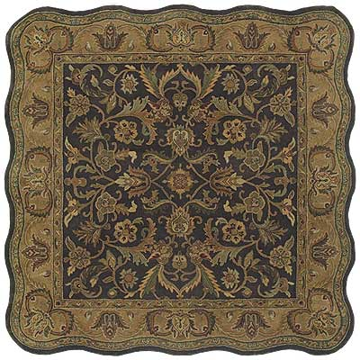 Kaleen Mystical Garden 6 x 6 Scalloped Square Williamsburg Garden Chocolate 6001-40