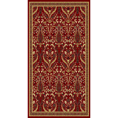 Kane Carpet American Dream 2 x 8 runner Isphahan Red 8663/30