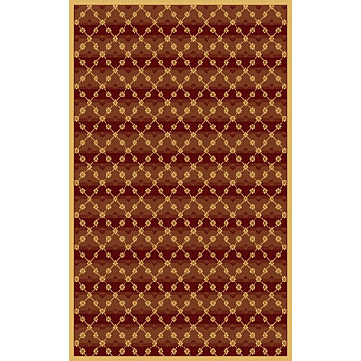 Kane Carpet Central Park 2 x 3 Trellis Red 5700/35