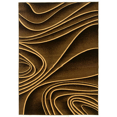 Kane Carpet Central Park 9 x 12 (Dropped) Contours Mocha 5710/70
