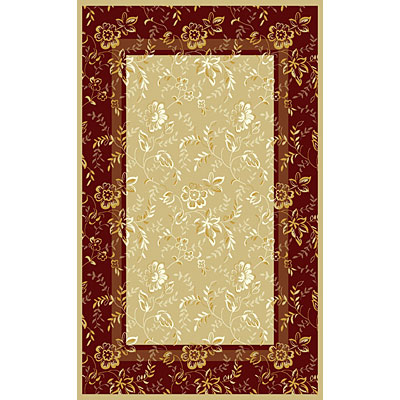 Kane Carpet Central Park 2 x 3 Floral Red/Beige 5714/34