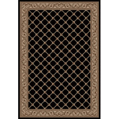 Kane Carpet Elegance 5 x 8 Traditional Trellis Black Diamond 7701-90