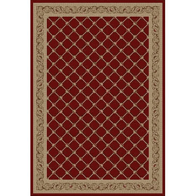 Kane Carpet Elegance 5 x 8 Traditional Trellis Cherry Wood 7701-35