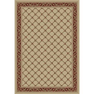 Kane Carpet Elegance 2 x 8 runner Traditional Trellis Ivory Sun 7701-05