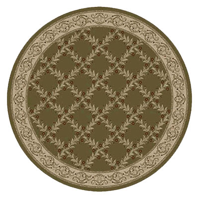 Kane Carpet Elegance 8 Round Incredible Laurel Wreath 7700-65