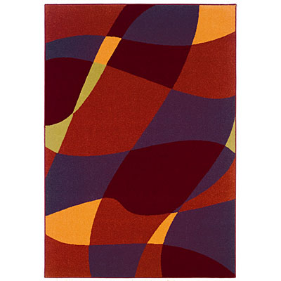 Kane Carpet Euphoria 4 x 6 Abstract Fire 4102/36