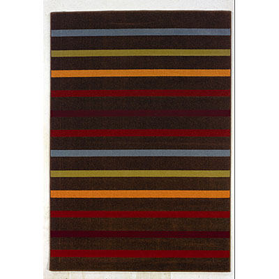 Kane Carpet Euphoria 4 x 6 Stripe Licorice 4101/88