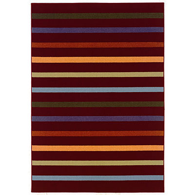 Kane Carpet Euphoria 8 x 10 Stripe Red 4101/35