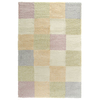 Kane Carpet Heaven Shag 5 x 8 Checkers Pastel 6705/91