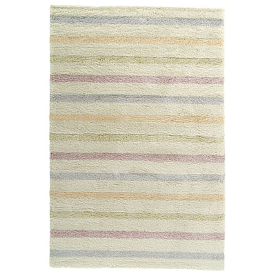 Kane Carpet Heaven Shag 8 x 10 Stripes Bubble Gum 6700/30