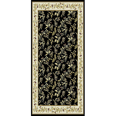 Kane Carpet Majestic 2 x 8 runner Floral Black 5950/90