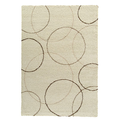 Kane Carpet Supreme Shag 5 x 8 Circles Neutral 6402/05