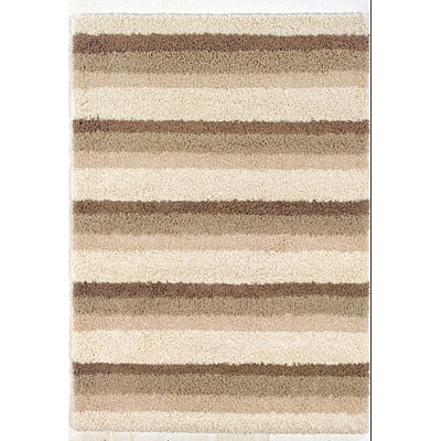 Kane Carpet Supreme Shag 5 x 8 Stripes Neutral 6404/05