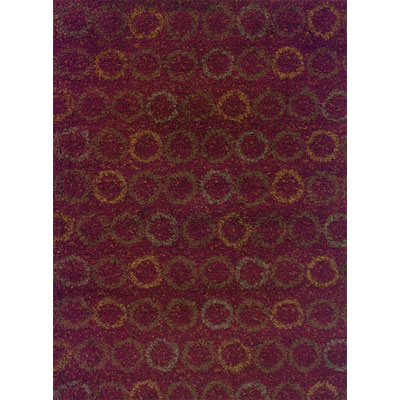 Kane Carpet Visions Shag 2 x 8 runner Circles Rusty 6000-39