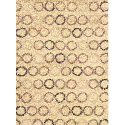 Kane Carpet Visions Shag 9 x13 (Dropped) Circles Salt and Pepper 6000-01