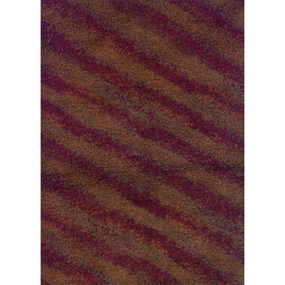Kane Carpet Visions Shag 6 x 8 (Dropped) Diagonals Rusty 6001-39