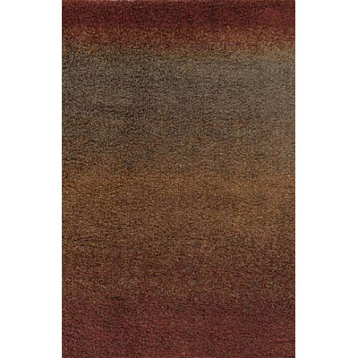 Kane Carpet Visions Shag 6 x 8 (Dropped) Ombre Rusty 6008-39