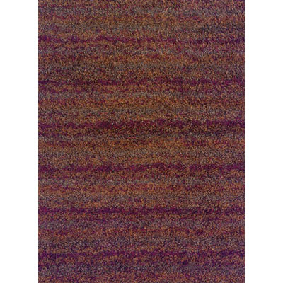 Kane Carpet Visions Shag 6 x 8 (Dropped) Stripe Rusty 6003-39