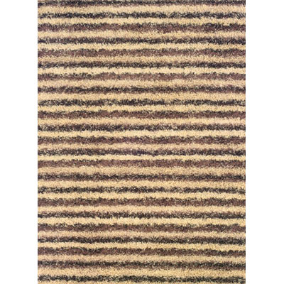Kane Carpet Visions Shag 2 x 3 Stripe Salt and Pepper 6003-01