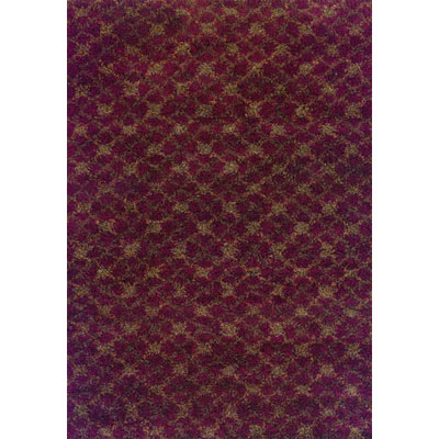 Kane Carpet Visions Shag 6 x 8 (Dropped) Trellis Rusty 6002-39
