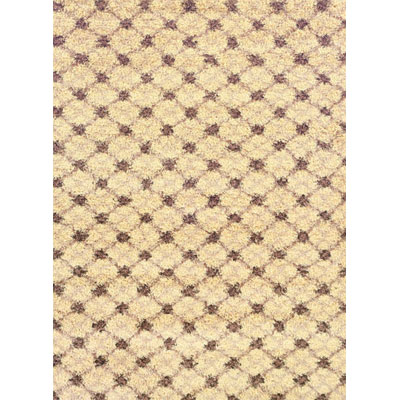 Kane Carpet Visions Shag 6 x 8 (Dropped) Trellis Salt and Pepper 6002-01