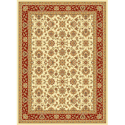 KAS Oriental Rugs. Inc. Alexandria 7 x 10 Alexandria Ivory/Red All-over Kashan 6609