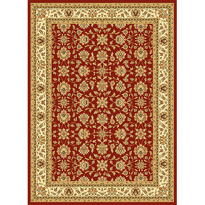 KAS Oriental Rugs. Inc. Alexandria 7 x 10 Alexandria Red/Ivory All-over Kashan 6610