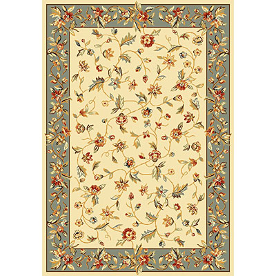 KAS Oriental Rugs. Inc. Alexandria Runner 2 x 7 Alexandria Ivory/Blue Allover Floral Vine 6636