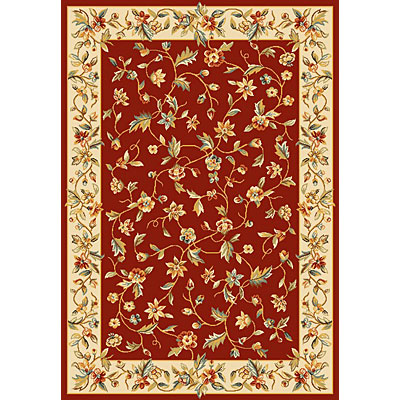 KAS Oriental Rugs. Inc. Alexandria 5 Round Alexandria Red/Ivory Allover Floral Vine 6637