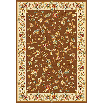 KAS Oriental Rugs. Inc. Alexandria Runner 2 x 7 Alexandria Chocolate/Ivory Allover Floral Vine 6639