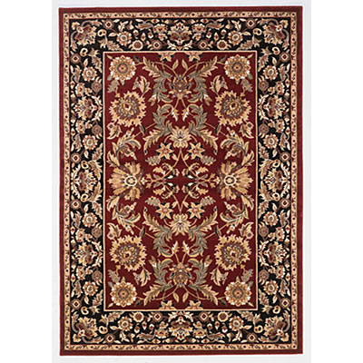 KAS Oriental Rugs. Inc. Cambridge 7 Octagon Cambridge Red/Black Kashan 7301