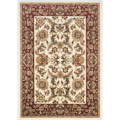 KAS Oriental Rugs. Inc. Cambridge 8 x 11 Cambridge Ivory/Red Kashan 7303